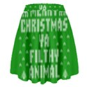 Ugly Christmas Ya Filthy Animal High Waist Skirt View2