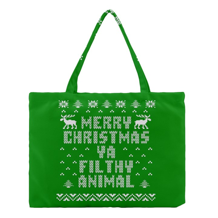 Ugly Christmas Ya Filthy Animal Medium Tote Bag