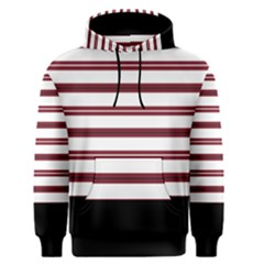 Red Stripes with Black Men s Pullover Hoodie