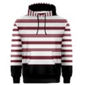 Red Stripes with Black Men s Pullover Hoodie View1