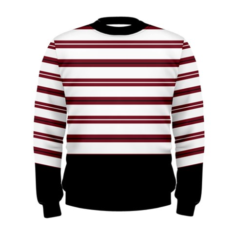Red Stripes with Black Men s Sweatshirt
