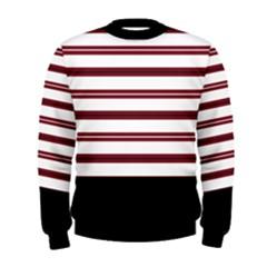 Red Stripes with Black Men s Sweatshirt