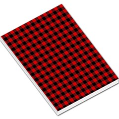 Lumberjack Plaid Fabric Pattern Red Black Large Memo Pads