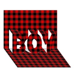 Lumberjack Plaid Fabric Pattern Red Black BOY 3D Greeting Card (7x5)