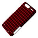 Lumberjack Plaid Fabric Pattern Red Black Motorola Droid Razr XT912 View4