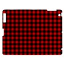 Lumberjack Plaid Fabric Pattern Red Black Apple iPad 3/4 Hardshell Case View1