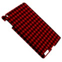 Lumberjack Plaid Fabric Pattern Red Black Apple iPad 3/4 Hardshell Case View5