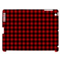 Lumberjack Plaid Fabric Pattern Red Black Apple iPad 3/4 Hardshell Case (Compatible with Smart Cover) View1
