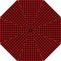 Lumberjack Plaid Fabric Pattern Red Black Hook Handle Umbrellas (Small) View1