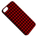 Lumberjack Plaid Fabric Pattern Red Black Apple iPhone 5 Classic Hardshell Case View5