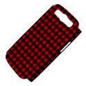 Lumberjack Plaid Fabric Pattern Red Black Samsung Galaxy S III Hardshell Case (PC+Silicone) View4