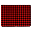 Lumberjack Plaid Fabric Pattern Red Black Kindle Fire (1st Gen) Flip Case View1