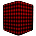 Lumberjack Plaid Fabric Pattern Red Black Apple iPad 2 Flip Case View4