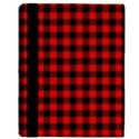 Lumberjack Plaid Fabric Pattern Red Black Apple iPad Mini Flip Case View3