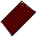 Lumberjack Plaid Fabric Pattern Red Black Apple iPad Mini Hardshell Case View4