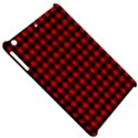 Lumberjack Plaid Fabric Pattern Red Black Apple iPad Mini Hardshell Case View5