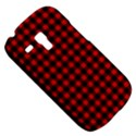 Lumberjack Plaid Fabric Pattern Red Black Samsung Galaxy S3 MINI I8190 Hardshell Case View5