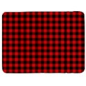 Lumberjack Plaid Fabric Pattern Red Black Samsung Galaxy Tab 7  P1000 Flip Case View1