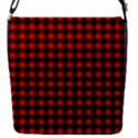 Lumberjack Plaid Fabric Pattern Red Black Flap Covers (S)  View1