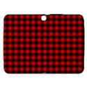 Lumberjack Plaid Fabric Pattern Red Black Samsung Galaxy Tab 3 (10.1 ) P5200 Hardshell Case  View1