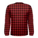 Lumberjack Plaid Fabric Pattern Red Black Men s Long Sleeve Tee View2
