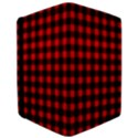 Lumberjack Plaid Fabric Pattern Red Black iPad Air 2 Flip View3