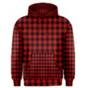 Lumberjack Plaid Fabric Pattern Red Black Men s Pullover Hoodie View1