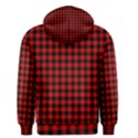 Lumberjack Plaid Fabric Pattern Red Black Men s Pullover Hoodie View2
