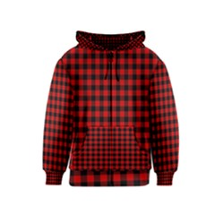 Lumberjack Plaid Fabric Pattern Red Black Kids  Zipper Hoodie