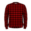 Lumberjack Plaid Fabric Pattern Red Black Men s Sweatshirt View1
