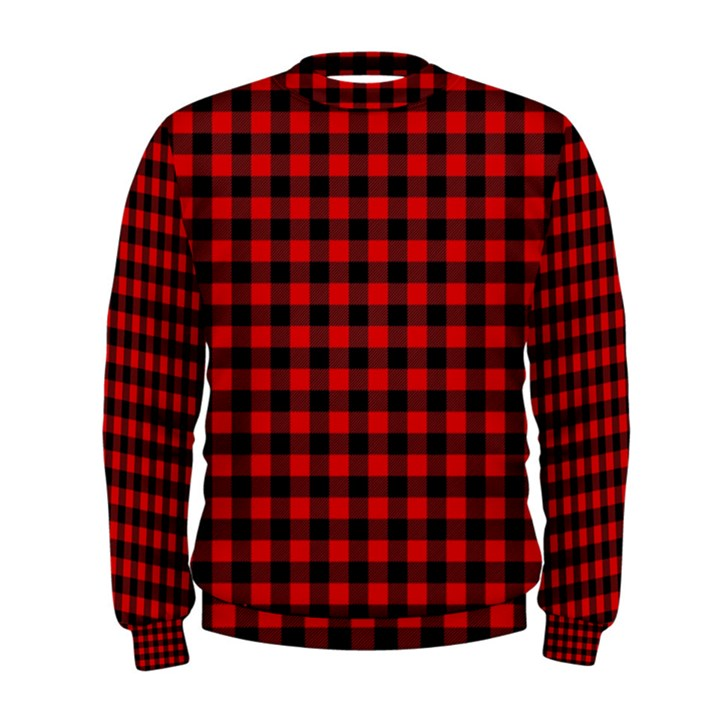 Lumberjack Plaid Fabric Pattern Red Black Men s Sweatshirt