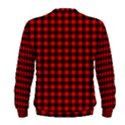Lumberjack Plaid Fabric Pattern Red Black Men s Sweatshirt View2