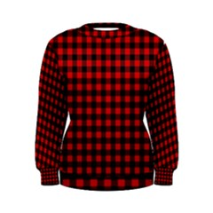 Lumberjack Plaid Fabric Pattern Red Black Women s Sweatshirt