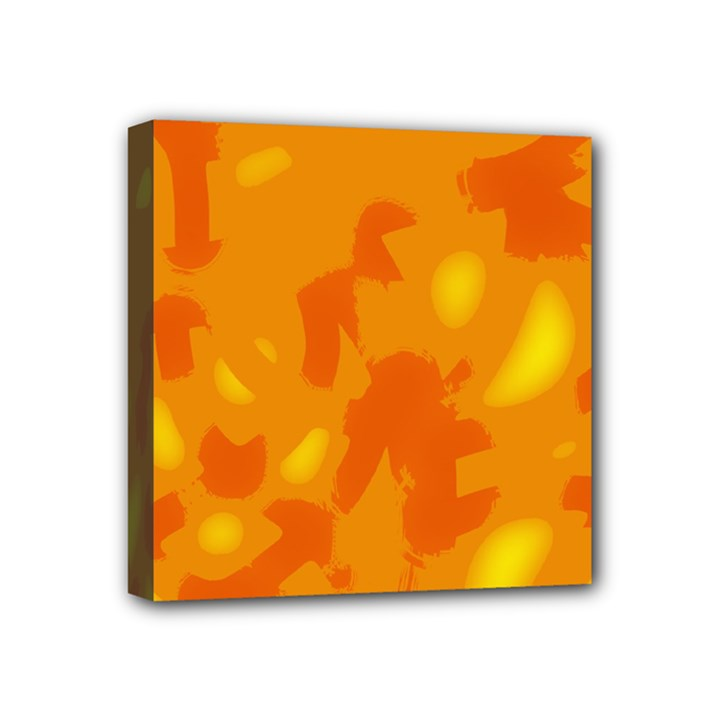 Orange decor Mini Canvas 4  x 4
