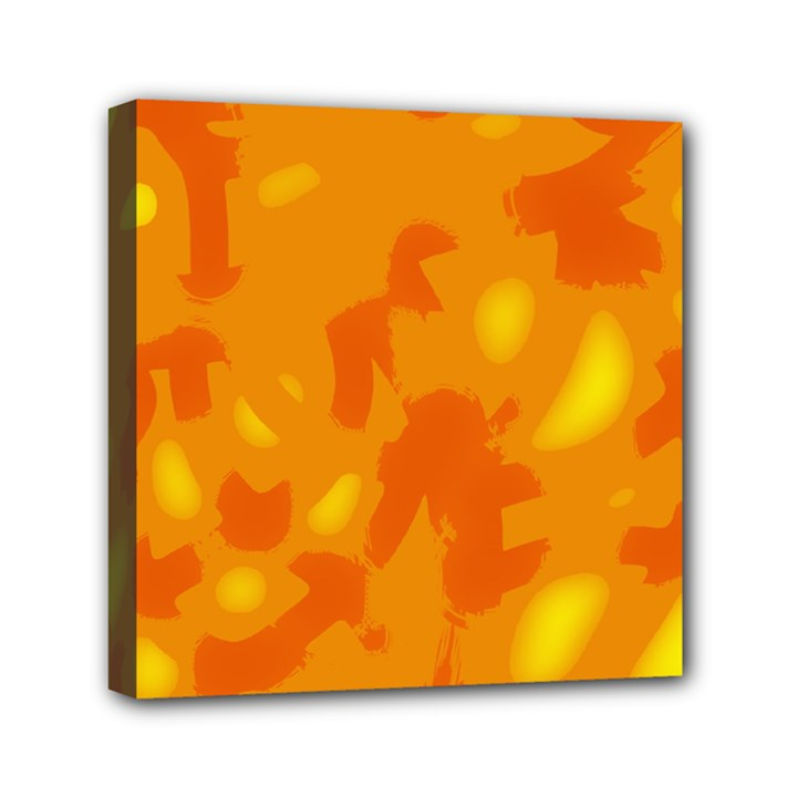 Orange decor Mini Canvas 6  x 6