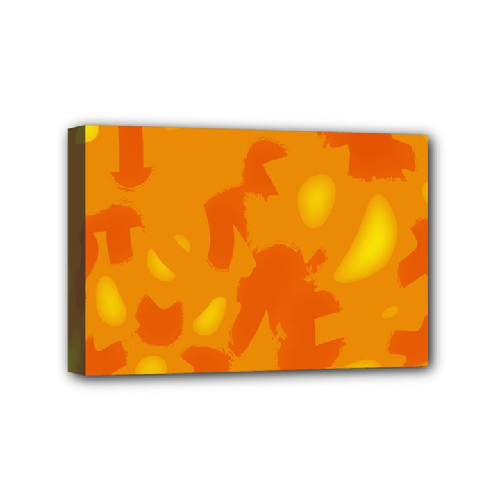 Orange decor Mini Canvas 6  x 4