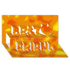 Orange Decor Best Friends 3d Greeting Card (8x4)