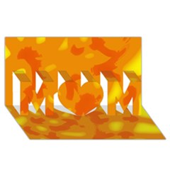 Orange decor MOM 3D Greeting Card (8x4)