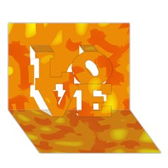 Orange decor LOVE 3D Greeting Card (7x5)