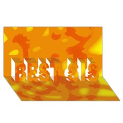 Orange decor BEST SIS 3D Greeting Card (8x4)