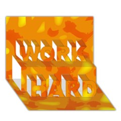 Orange decor WORK HARD 3D Greeting Card (7x5)