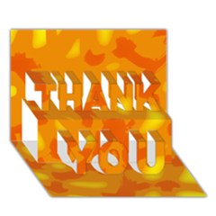 Orange decor THANK YOU 3D Greeting Card (7x5)