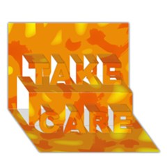 Orange decor TAKE CARE 3D Greeting Card (7x5)