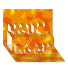 Orange Decor You Rock 3d Greeting Card (7x5)