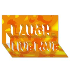 Orange decor Laugh Live Love 3D Greeting Card (8x4)