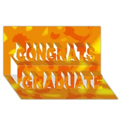 Orange Decor Congrats Graduate 3d Greeting Card (8x4)