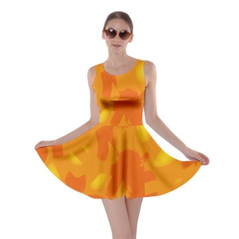 Orange decor Skater Dress