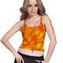Orange decor Spaghetti Strap Bra Top View1