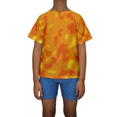Orange decor Kids  Short Sleeve Swimwear