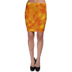 Orange decor Bodycon Skirt